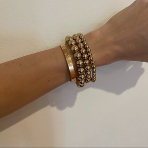 Arm Candy Beaded Bracelet Set | Gold